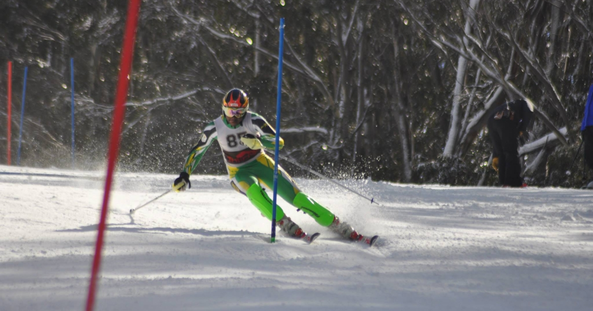 South African slalom skier Sive Speelman. South Africa's Olympic governing body opted not to send the young Speelman, despite his having been awarded a place by the International Olympic Committee.</p>
