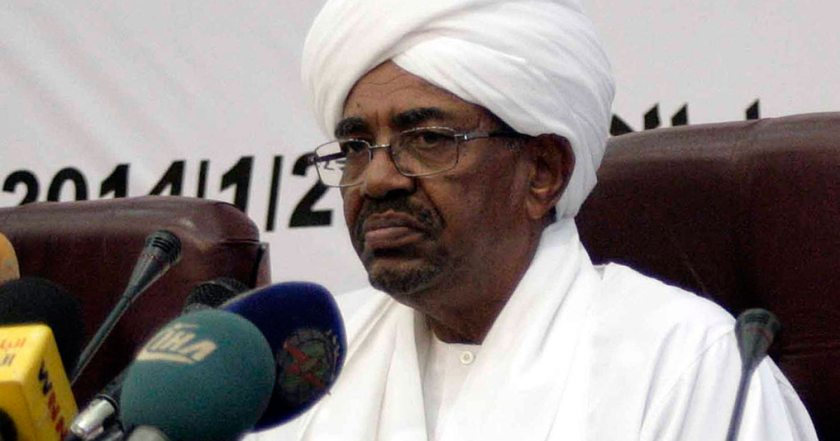 Sudan's President Omar al-Bashir delivers a speech on Jan. 27, 2014 in which he appealed for a political and economic renaissance in his country ravaged by war, poverty and political turmoil, in the Sudanese capital Khartoum.</p>
