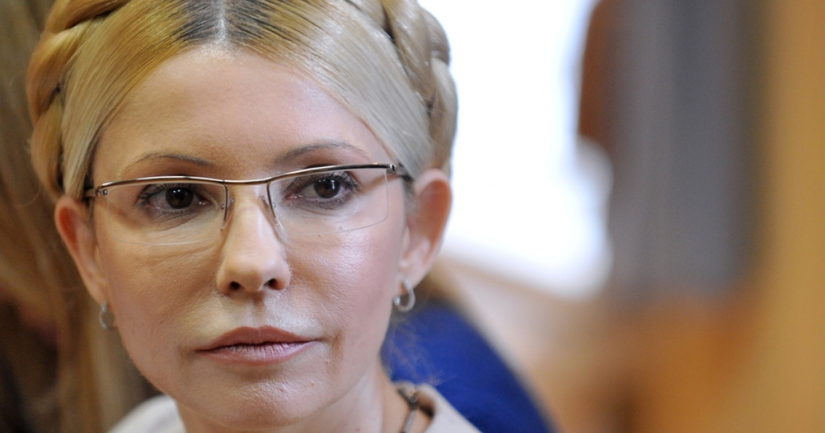 Ukraine's former prime minister Yulia Tymoshenko was sentenced on October 11, 2011 to seven years in jail for abusing her powers in a 2009 gas deal with Russia. AFP PHOTO / SERGEI SUPINSKY</p>