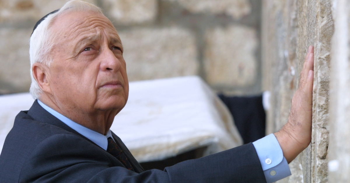 Ariel Sharon as Israeli Prime Minister-elect at the Western Wall on February 7, 2001, the day after his landslide win over Ehud Barak. Barak had made a similar visit the day after he defeated Benjamin Netanyahu 21 months prior.</p>