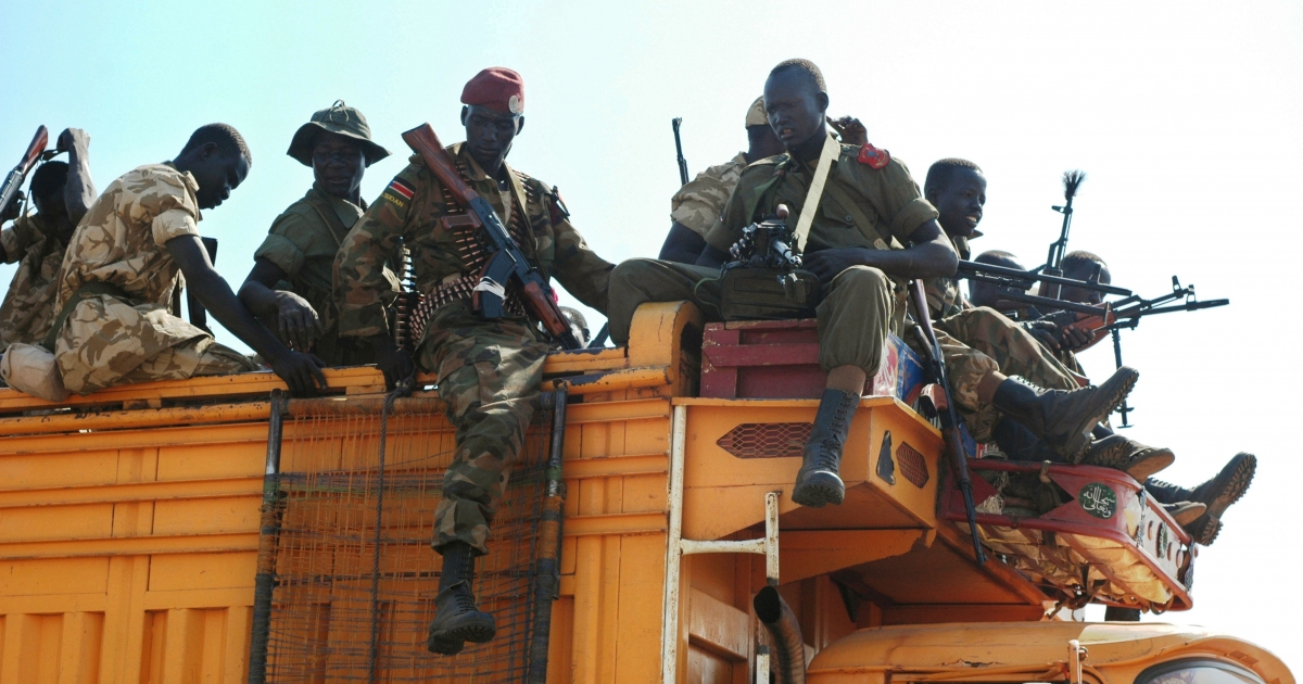 Government soldiers prepare to deploy from the capital, Juba, as fighting continues to rage in south Sudan.</p>