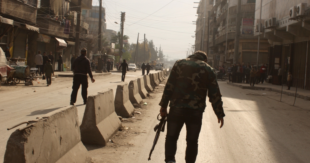 Rebels in Aleppo. Albanian militants in Syria are taking to the internet.</p>