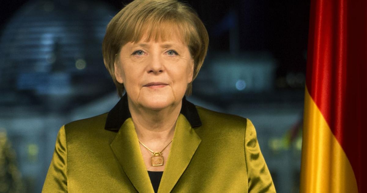 German Chancellor Angela Merkel at the Chancellery in Berlin, Dec. 30, 2013.</p>
