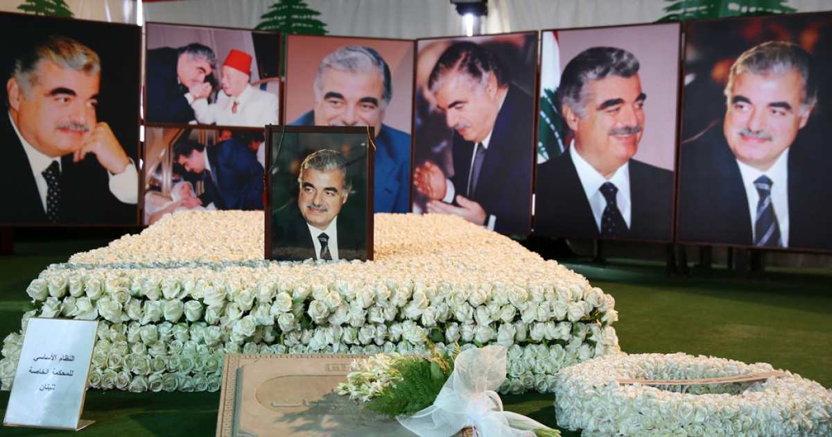 The memorial site for former Lebanese Prime Minister Rafik Hariri stands in the centre of Beirut's downtown district. Site management and security staff said several hundred visitors came to pray at Hariri's grave during the opening days of the trial of those accused in his murder.</p>