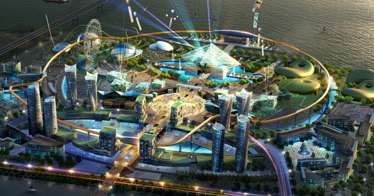 Concept art for Robot Land in Incheon, Korea, scheduled to open in September 2013.</p>