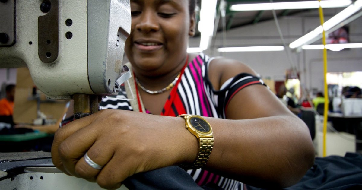 Elvira Juan Chale sews t-shirts at Altagracia Apparel, where workers earn three times the Dominican Republic's minimum wage. Now, Altagracia workers are inspiring other textile employees here to demand higher wages and better working conditions from their own companies.</p>