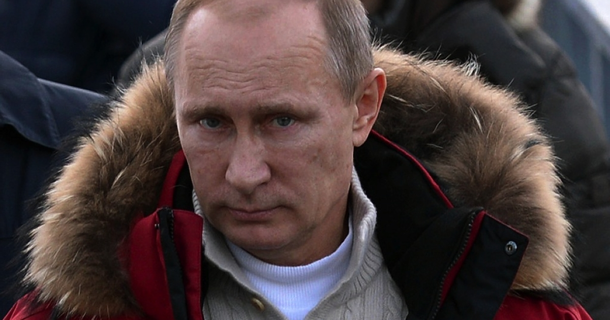 This photo taken on Jan. 3 shows Russian President Vladimir Putin inspecting sporting venues in Sochi ahead of the Winter Olympics which start on Feb. 7.</p>