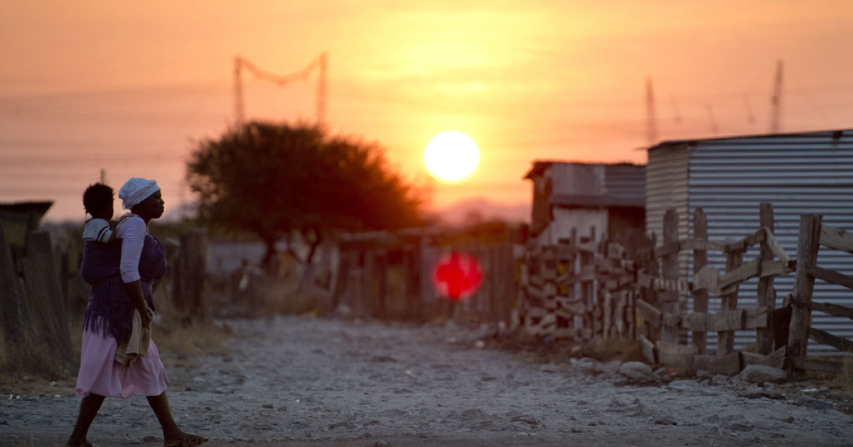 The shanty town of Nkaneng next to Lonmin's platinum smelter in Marikana on July 9, 2013.</p>
