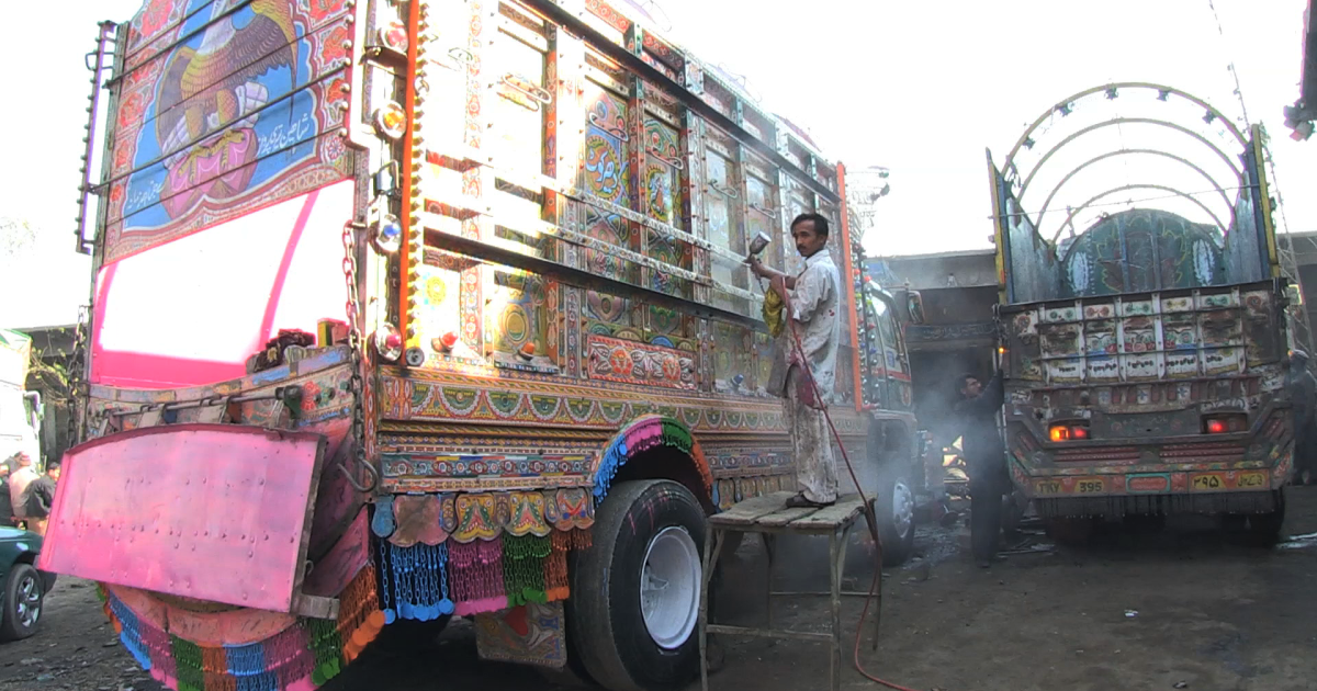 Pakistan's truck artists worry NATO's withdrawal from Afghanistan will put them out of business.</p>