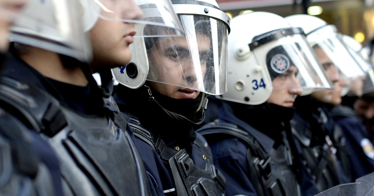 The Turkish government has fired 350 police officers in Ankara, local media reported on January 7, the latest twist in a vast corruption scandal that has ensnared key allies of Prime Minister Recep Tayyip Erdogan.</p>