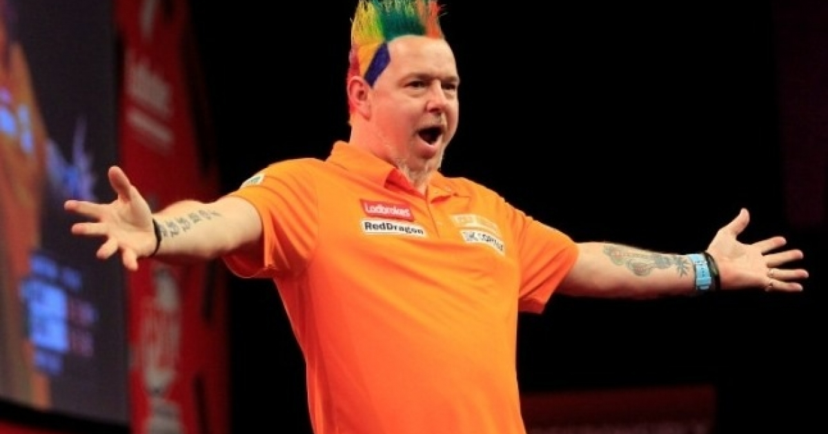Peter Wright at the World Darts Championship Quarter finals on Wednesday.</p>
