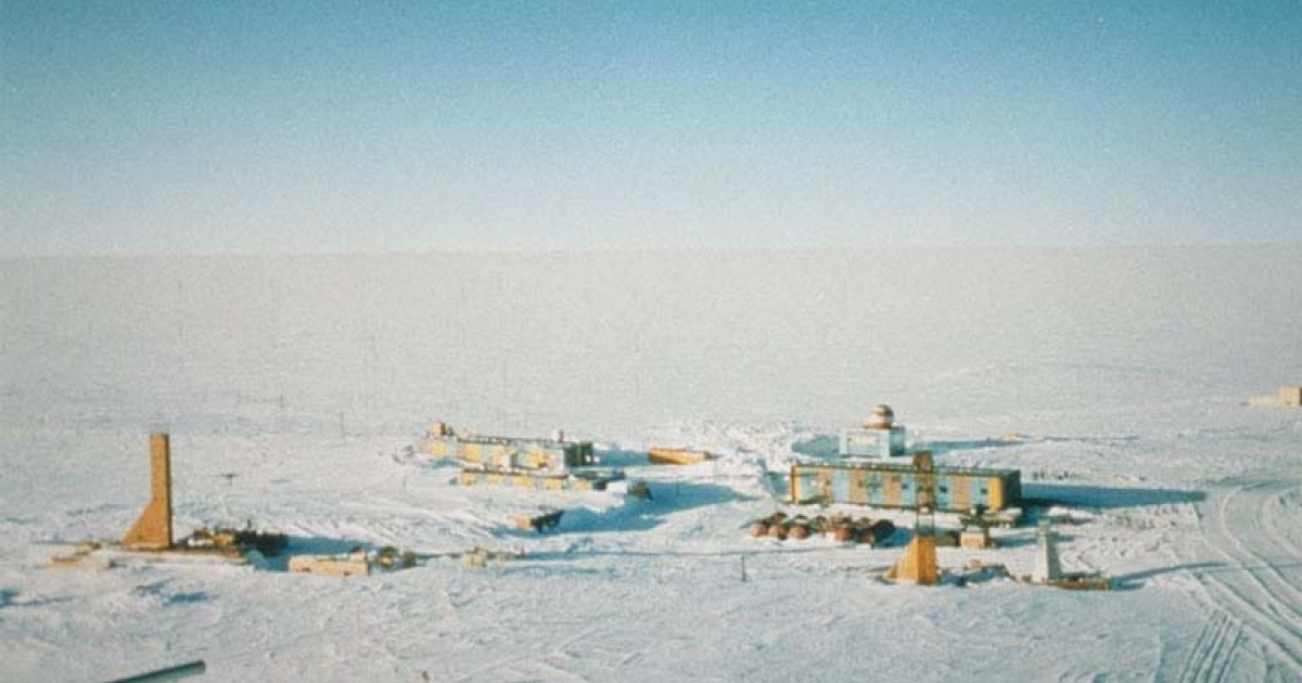 Russia's Vostok research station in East Antarctica, officially the coldest place on earth.</p>
