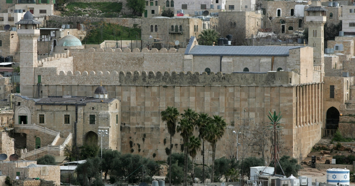 The West Bank town of Hebron, which contains the Tomb of the Patriarchs, sacred to both Jews and Muslims.</p>