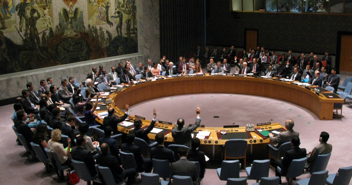 The United Nations Security Council meets to discuss the situation in Syria July 14, 2014 at the United Nations in New York.</p>