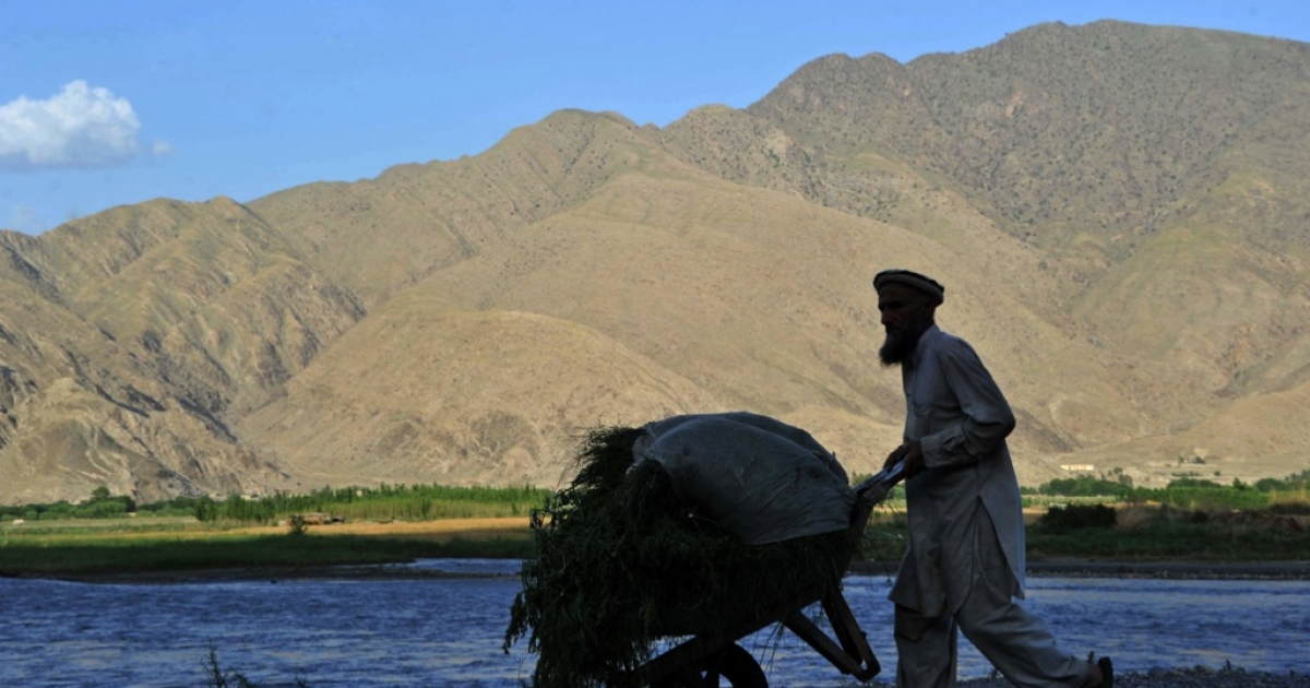 Only about 15 percent of Afghanistan's land, mostly in scattered valleys, is suitable for farming. About 6 percent of the land is actually cultivated.</p>