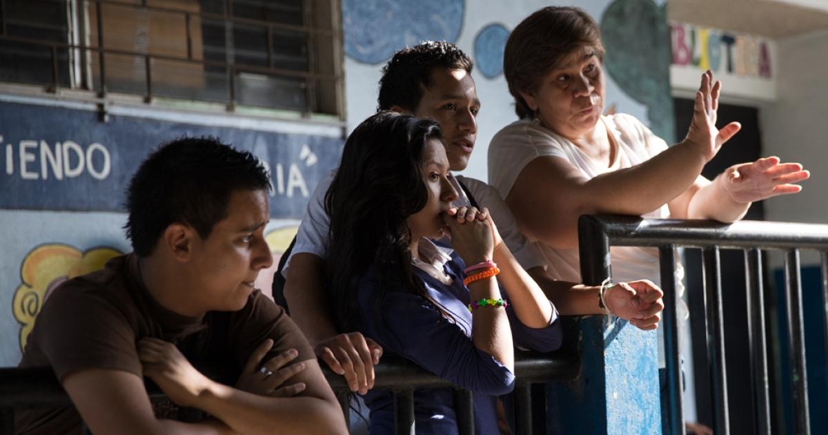 Salvadoran teacher Ana Hebe Alvarado survived a shooting.</p>