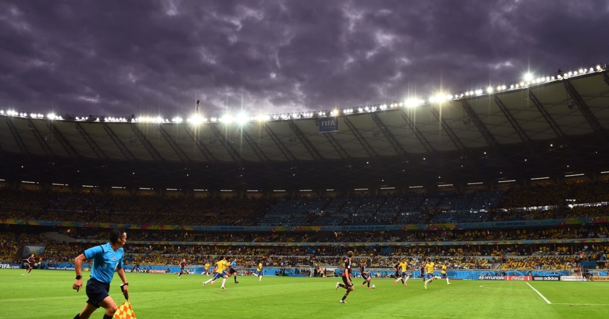 Dark clouds hang over Brazil's crushing loss to Germany in the World Cup.</p>