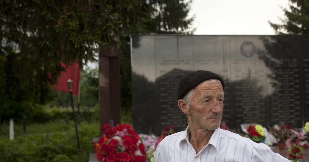 Isa Gashi 72, a survivor and eyewitness to a massacre committed by Serb paramilitaries in 1999.</p>