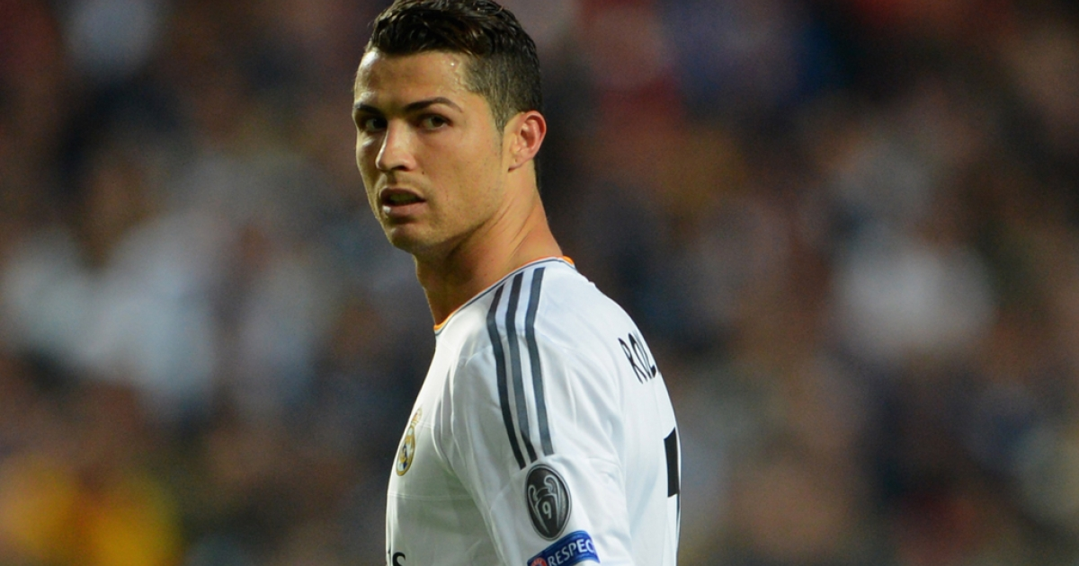LISBON, PORTUGAL - MAY 24:  Cristiano Ronaldo of Real Madrid looks on during the UEFA Champions League Final between Real Madrid and Atletico de Madrid at Estadio da Luz on May 24, 2014 in Lisbon, Portugal.  (Photo by Michael Regan/Getty Images)</p>
