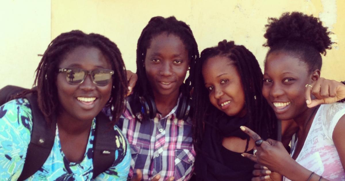 Senegalese rapper Toussa Senerap and her band GOTAL.</p>