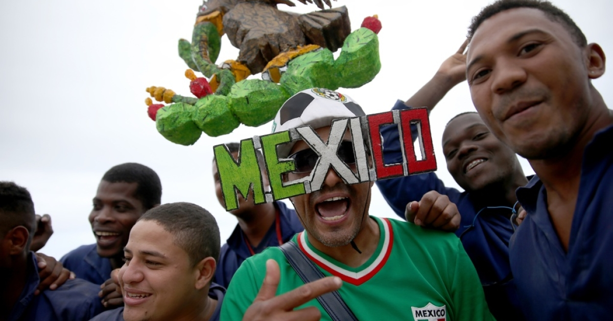 Cain Camacho from Chicago is loco for Mexico's team at the World Cup in Rio de Janeiro, Brazil.</p>