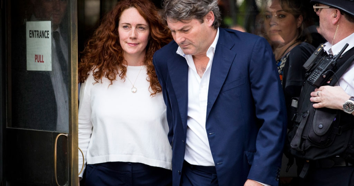 Rebekah Brooks seen leaving the Old Bailey after being cleared of all charges on June 24, 2014 in London, England.</p>