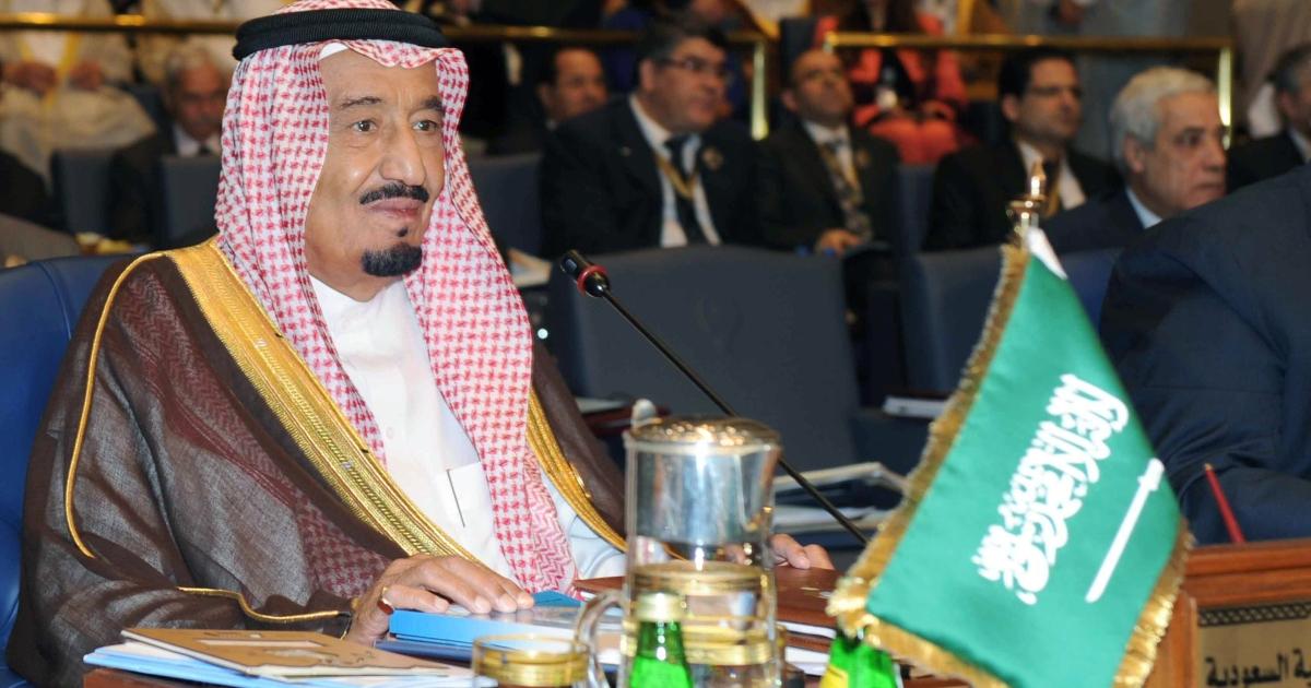 Saudi Crown Prince Salman bin Abdulaziz al-Saud attends the 25th Arab League summit at Bayan palace in Kuwait City.</p>