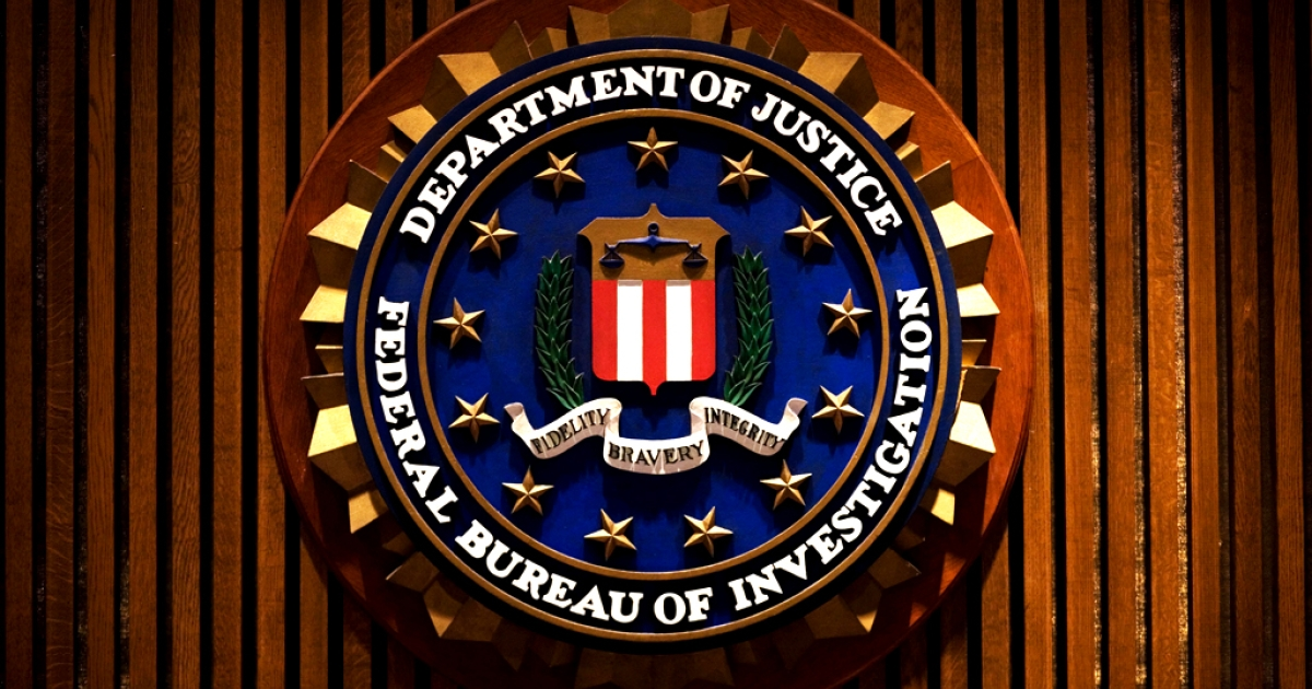 The crest of the Federal Bureau of Investigation.</p>