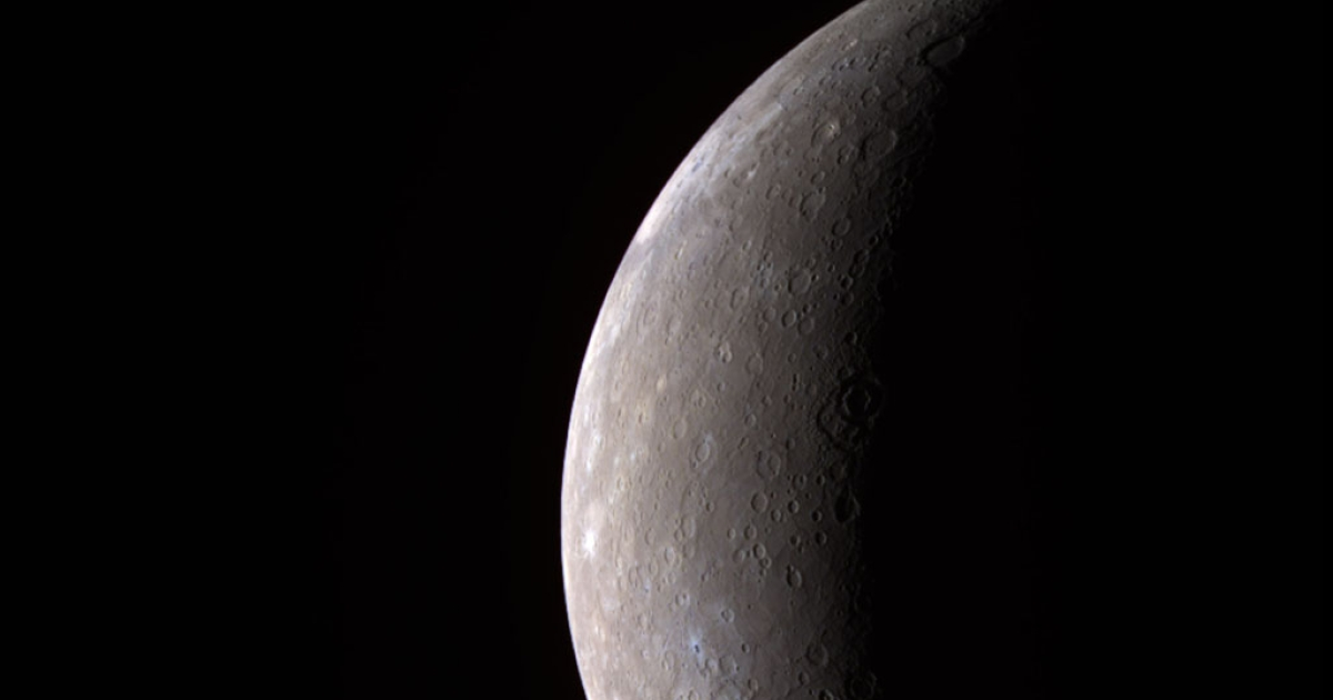 In this handout from NASA, Mercury is seen from the Messenger spacecraft on Jan. 14, 2008.</p>