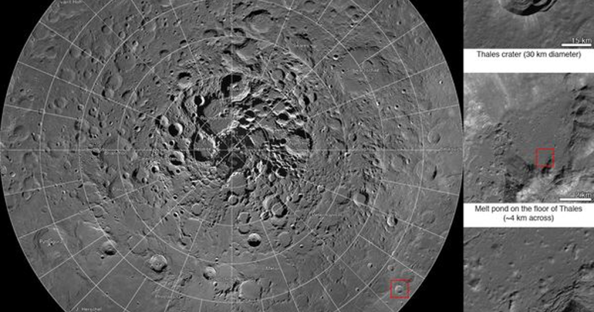 NASA has released this interactive map of the moon's north pole. It's the largest high-resolution map of our moon ever made.</p>