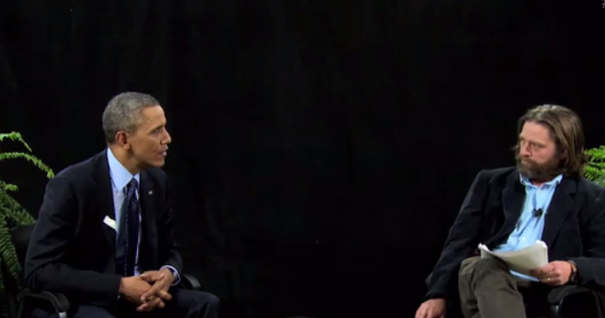 Zach Galifianakis interviews President Barack Obama for his online talk show