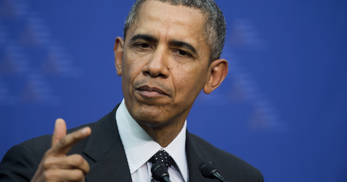 US President Barack Obama speaks during a press conference in The Hague, Netherlands, on March 25, 2014.</p>