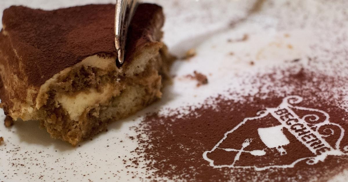 A slice of Tiramisu at the Restaurant