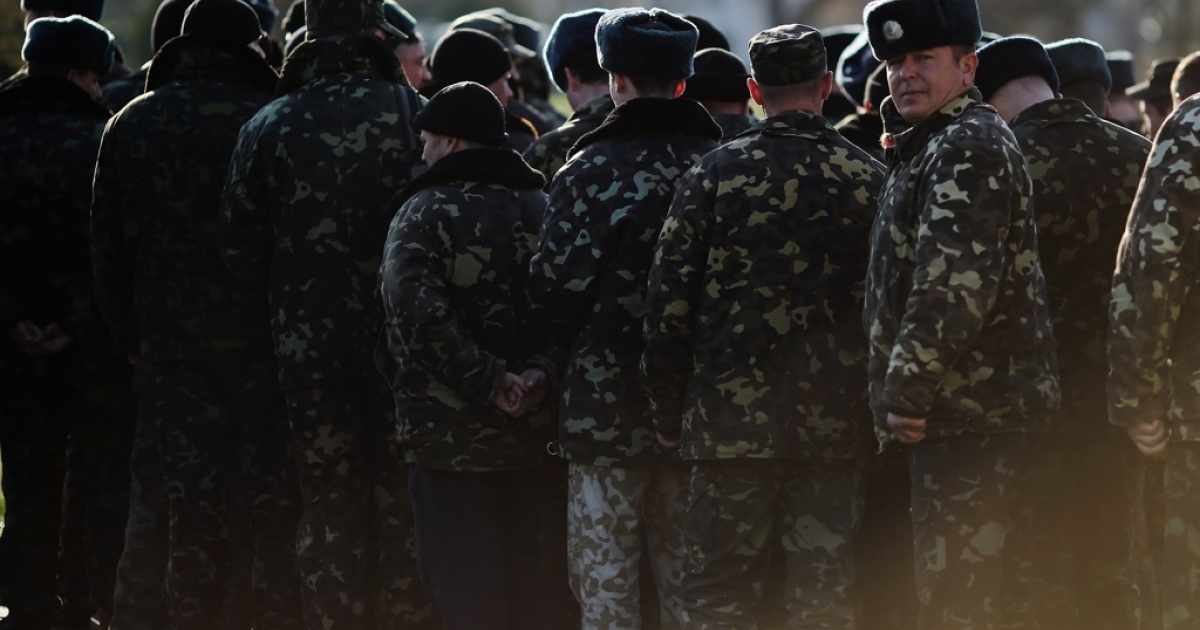 The standoff between the Russian military and Ukrainian forces continues in Ukraine's Crimean peninsula.</p>