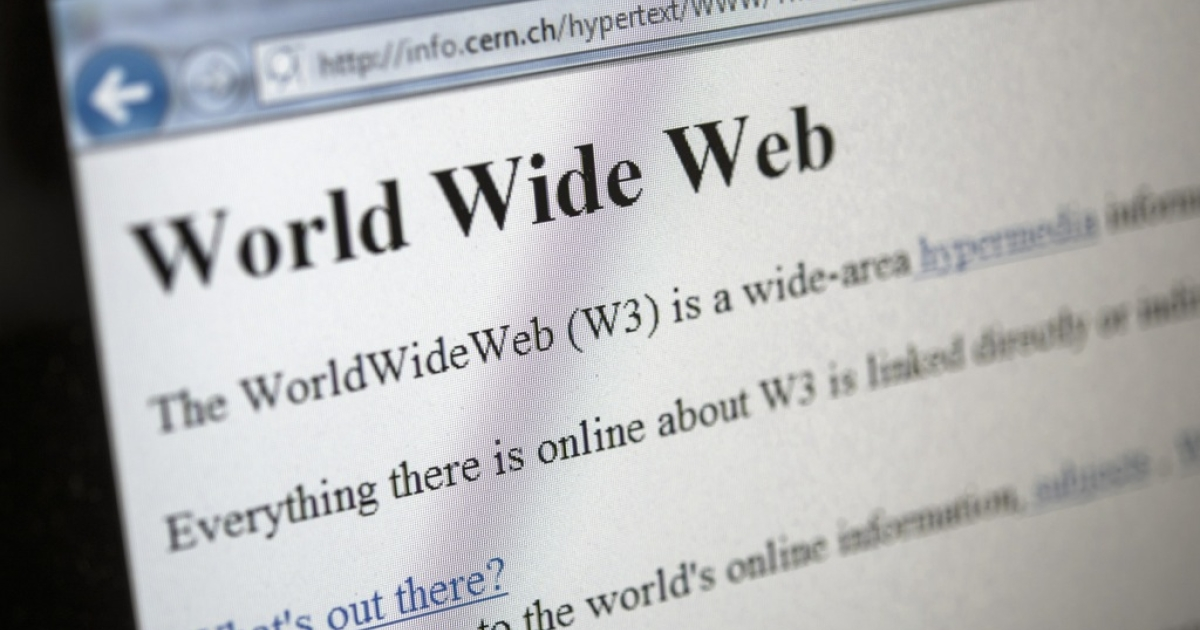 This picture shows a 1992 copy of the world's first web page.</p>