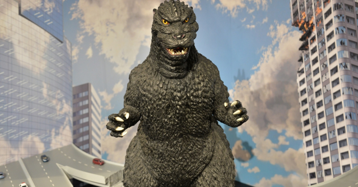 A Godzilla statue at an art exhibit in Tokyo, May 2, 2014.</p>