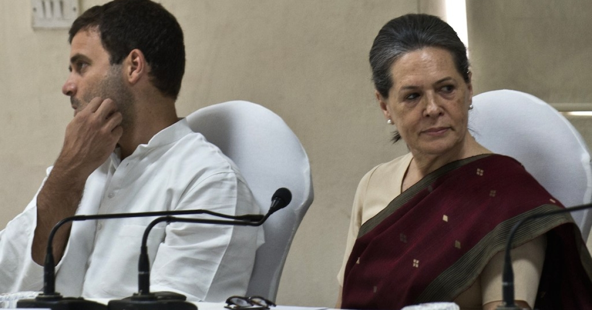 Congress party President Sonia Gandhi (R) and Vice President Rahul Gandhi attend the Congress Working Committee (CWC) meeting in New Delhi on May 19, 2014.  Has the Gandhi family lost its focus?</p>