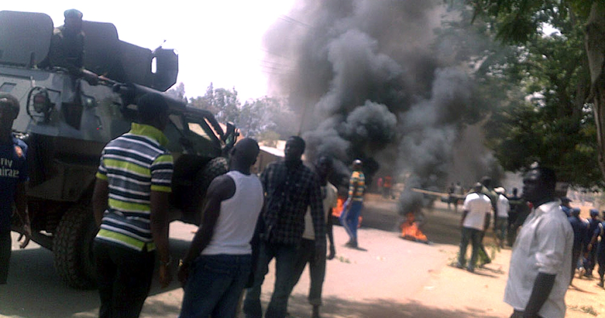 An explosion that rocked St Finbers Catholic Church in Jos on March 11, 2012.</p>