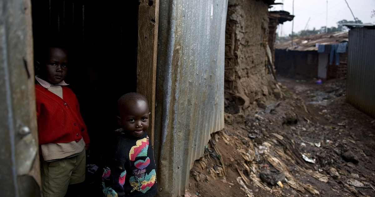The kind of Nairobi slum Maria's mother says she doesn't want her daughter to experience.</p>