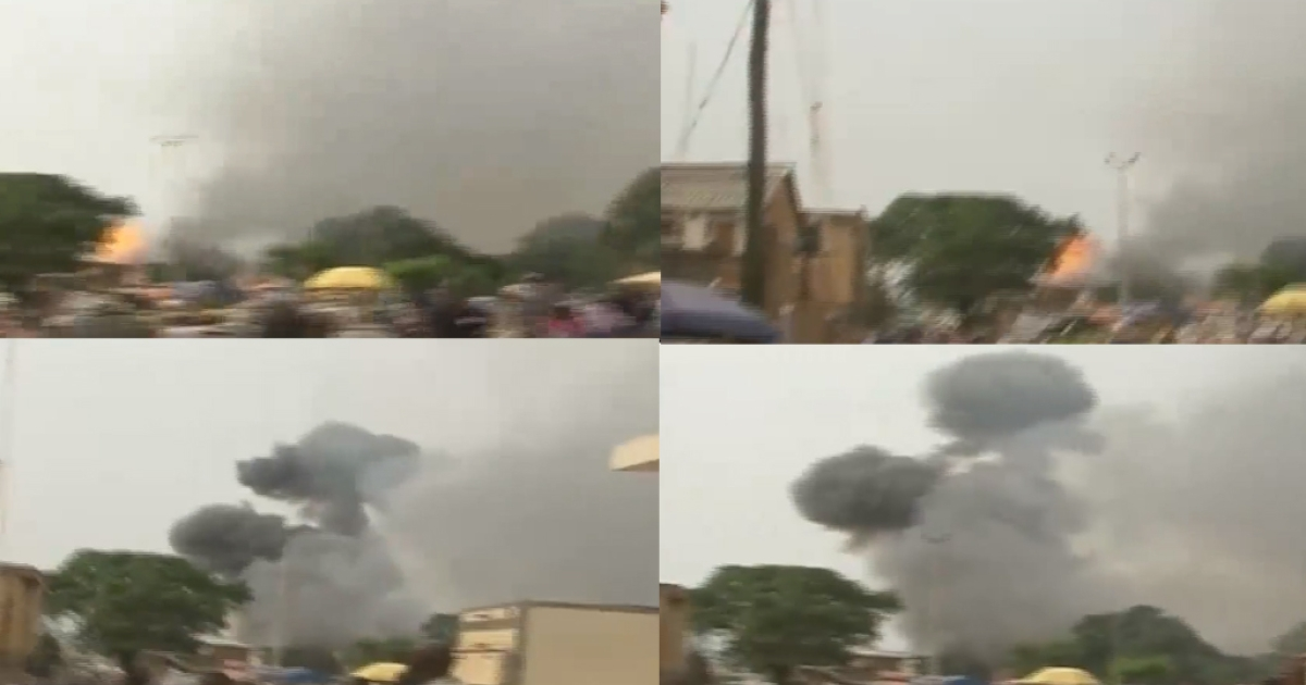 Footage from the bombing in the Nigerian city of Jos on May 20, 2014.</p>