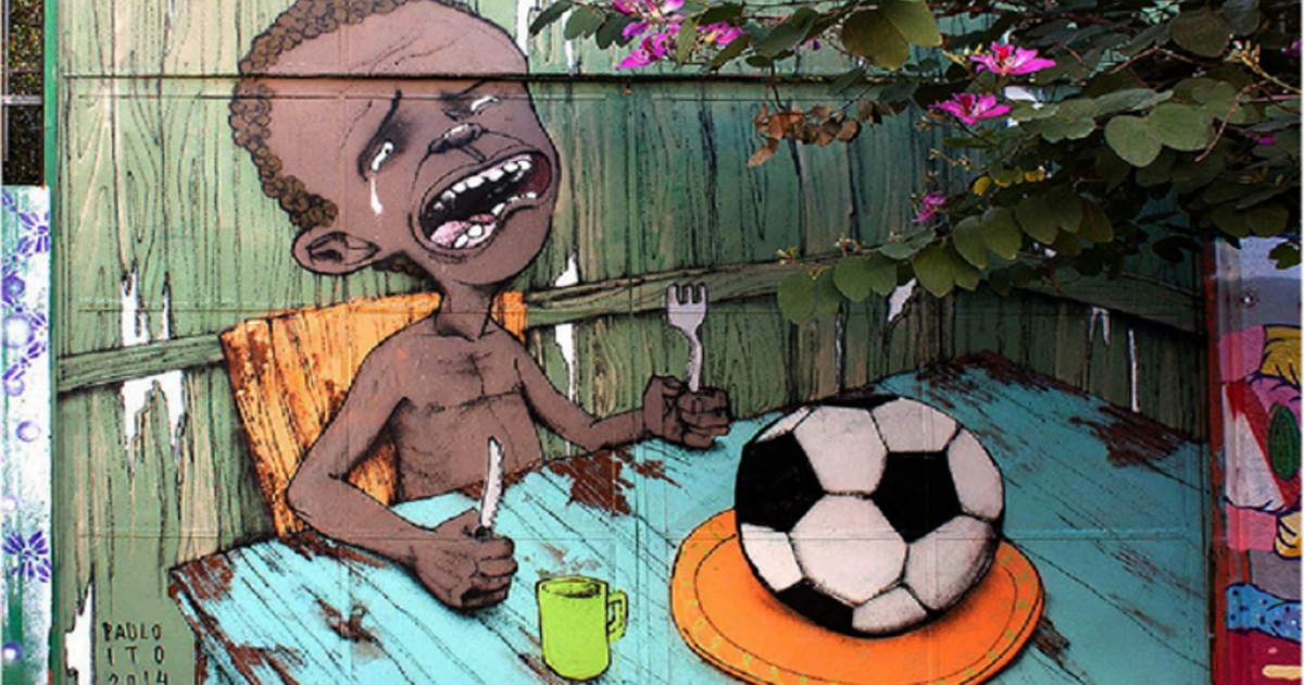Paulo Ito's World Cup mural.</p>