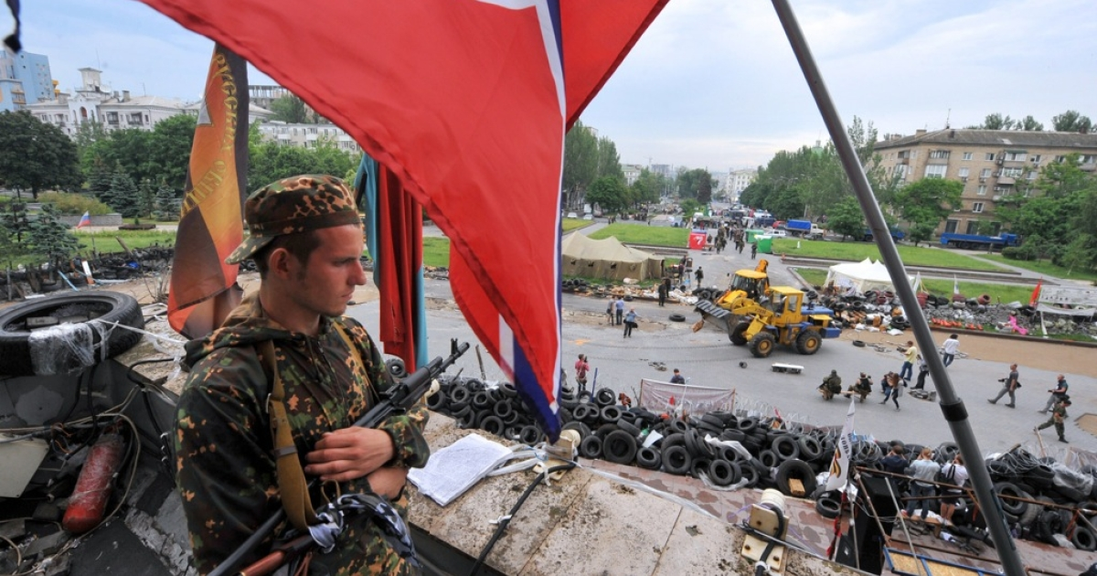 The pro-Russian Vostok Battalion ousted the so-called People's Republic of Donetsk from the regional state building on Thursday.</p>
