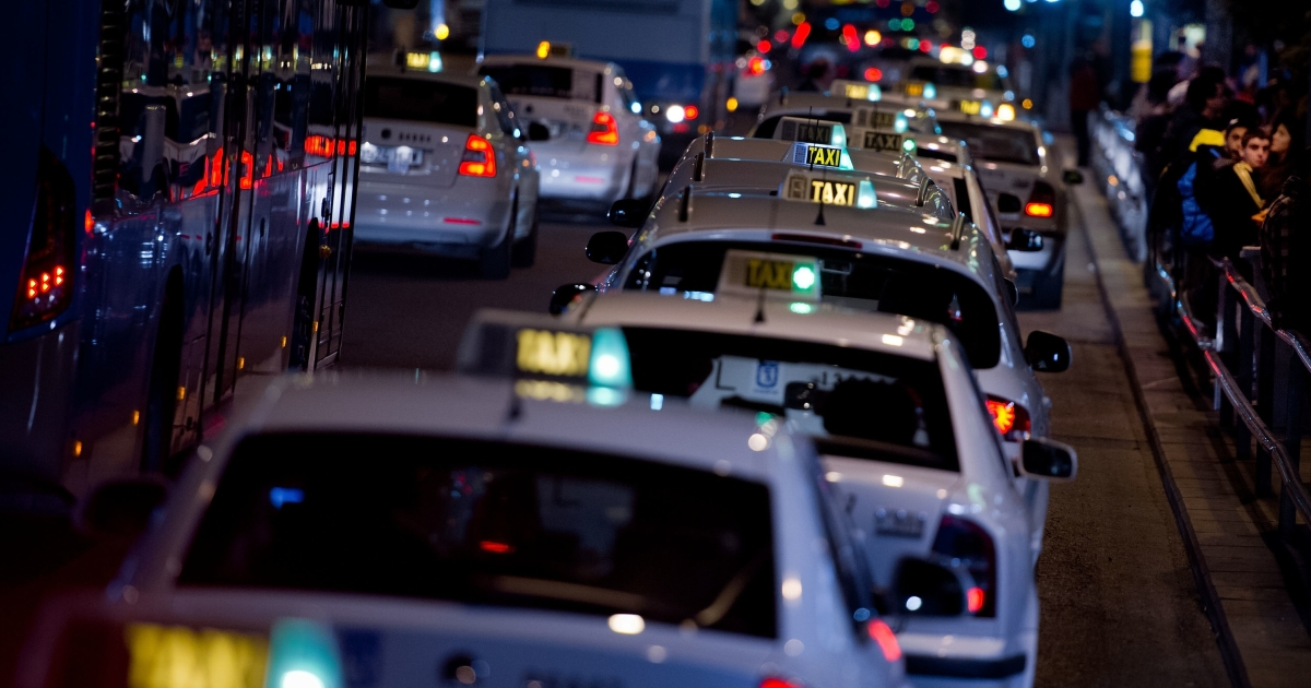Spanish taxi drivers threatened nationwide strikes after Uber launched in Barcelona in April.</p>