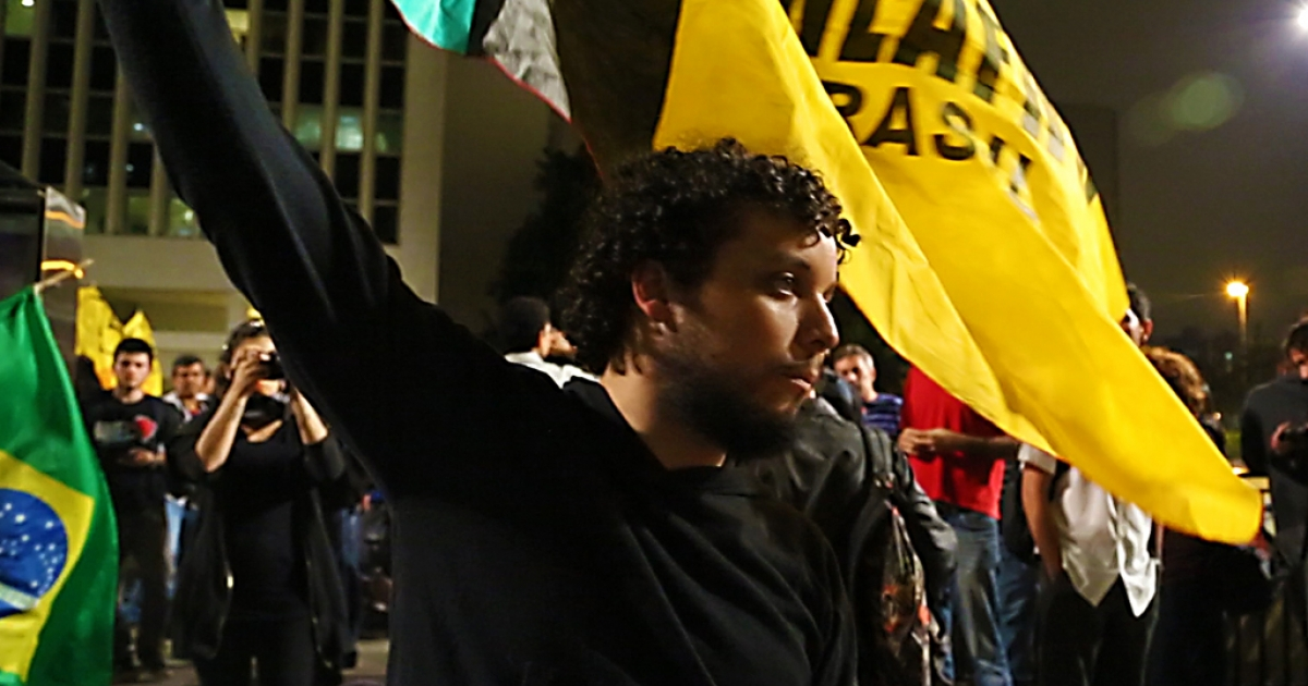 Tomaz Amorim, organizer for the 2014 World Cup protests in Sao Paulo, Brazil.</p>