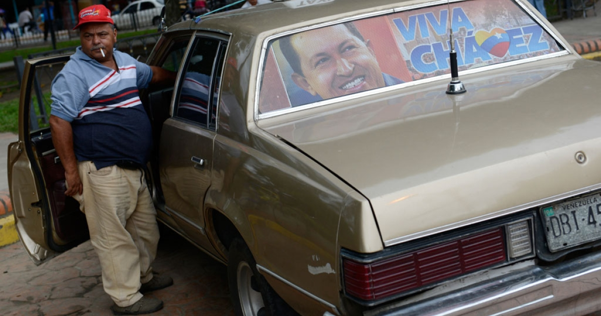 A taxi driver in Venezuela.</p>