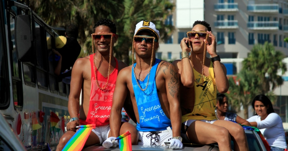 Revelers in the Dominican Republic capital of Santo Domingo take part in a gay pride parade. But in other Caribbean countries like Belize, meanwhile, harsh British colony-era anti-gay laws remain in place.</p>