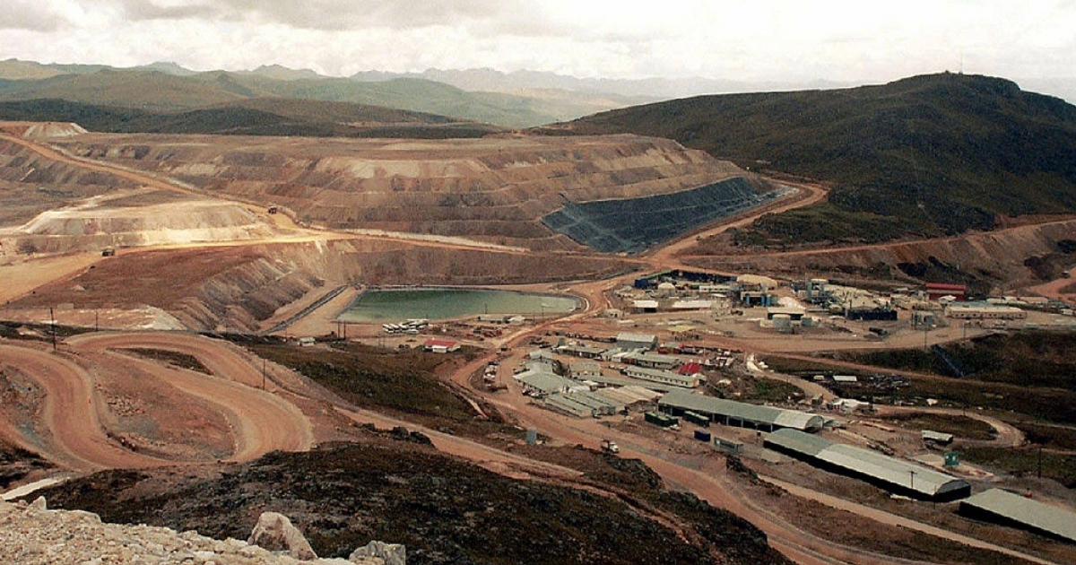 The gold mine Yanacocha, in Cajamarca. Local people haven't always welcomed major mining companies. (AFP/Getty Images)</p>