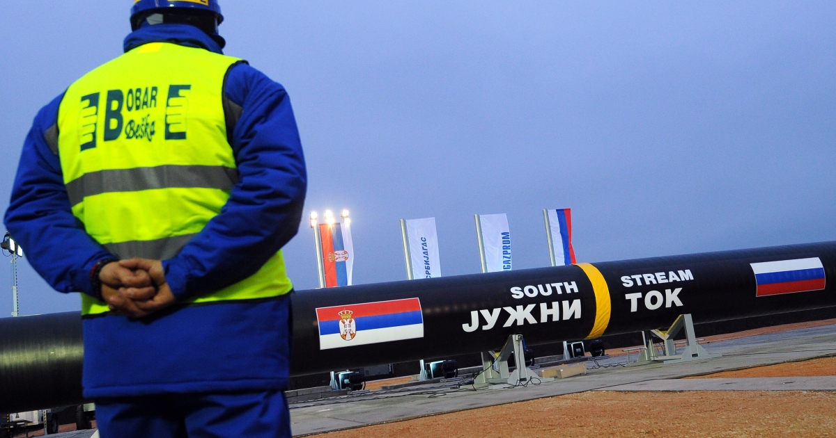 Gazprom began building the Serbian stretch of its South Stream pipeline last year.</p>