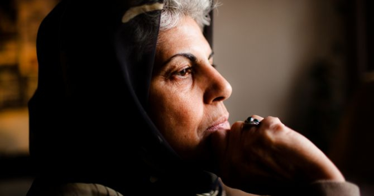 Roshan Sirran, a women's rights advocate, in her office at the Training Human Rights Association for Afghan Women, in Kabul, Afghanistan on Dec. 19, 2011.</p>