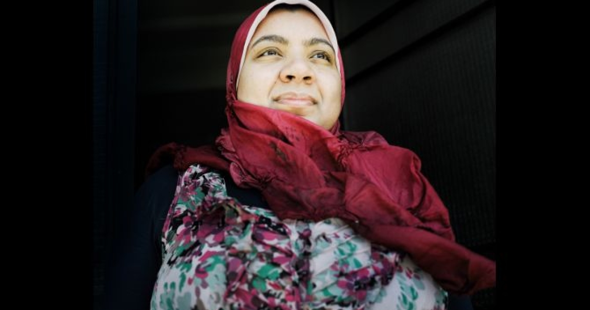Marwa Maamoun, a prominent poet and activist in Egypt who wrote poetry throughout the political uprising in support of the protests, Alexandria, Egypt in May 2012.</p>